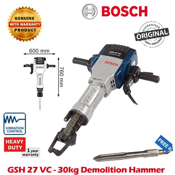 Bosch Gsh 27 Vc 30kg Demolition Hammer Gold Tools Manila
