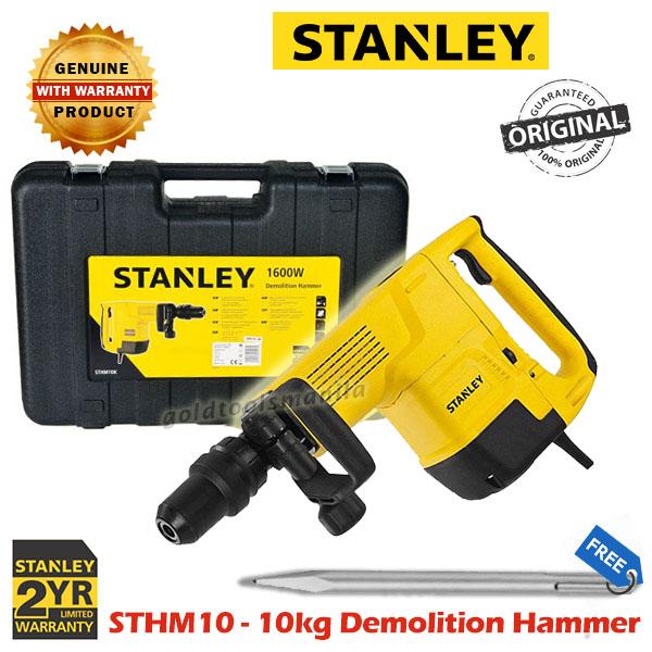 Stanley Sthm10k 10kg Demolition Hammer Gold Tools Manila