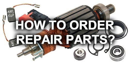 How to order repair parts?