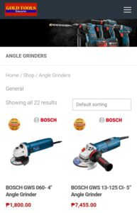 Selection Mobile Angle Grinders